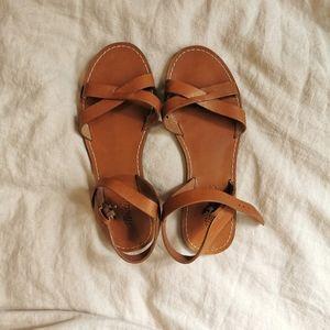 Madewell Boardwalk Sandal Tan Leather size 7